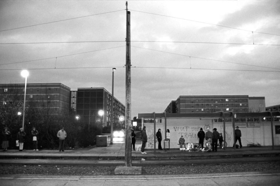 Die Endhaltestelle der Linie 4 in Neu-Olvenstedt: Hier starb Frank Böttcher am 7. Februar 1997. (Foto: Ch. Ditsch/version)